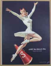 1940 Pin-up Look's All Service Girl by Alex Raymond, Flash Gordon Creator