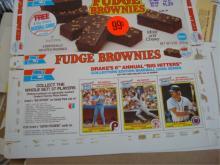 Drake's Box Tops Baseball Cards 1980