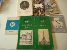 2 Michelin 1953-1954 Guides & France Ephemera