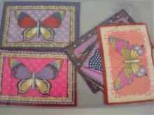 (6) Butterflies & Flags Tobacco Felts