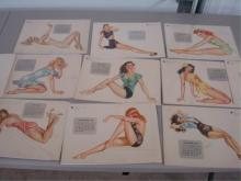 1946 Esquire Girl Calendar Sheets Missing August