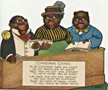 Vintage Die-Cut Black Memorabilia 3 African-American Choir singers