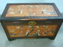 China Chest Inlaid w Jade Camphor ('Xiangzhang')