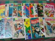 18 1950-60 Comic Lot Mickey, Musketeers, Alvin
