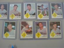 Fleer 1963 (9) Baseball Cards