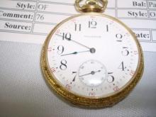 Waltham ROYAL 14 KT Gold Filled Pocket Watch