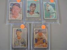 1957 TOPPS (5) Baseball Cards Kell, Wilhelm