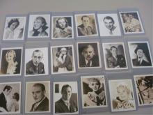 1930's Actor's Publicity Cards (18 Cards)