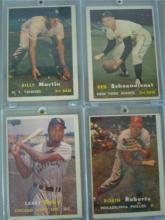 4 1957 Topps Cards 3 HoF VG+