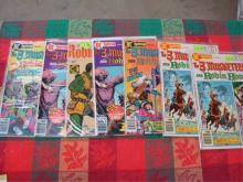 7 DC 3 Musketeers and Robin Hood Comics