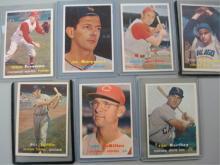 1957 Topps Baseball Cards (7) ExMT or Better