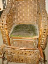 Antique Rattan Child's Doll Carriage