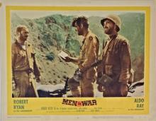 Lobby Card MEN IN WAR 1957, Starring Robert Ryan, Aldo Ray & Vic Morrow