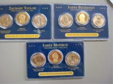 2007 PDS  First Day Issue Presidential 3 Coin Sets
