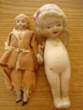 2 Small Dolls Doll House Doll and Nippon
