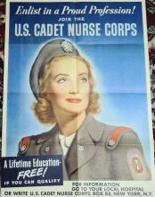 WWII Poster Enlist in a Proud Profession Join the US Cadet Nurse Corp! 20