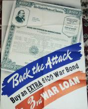 WWII Poster Back the Attack, Buy War Bonds  20