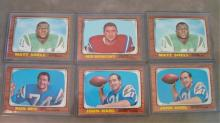 6 Star 1966 TOPPS Football Cards - Dups