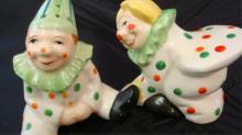 Clowns Salt & Pepper Japan 1940s