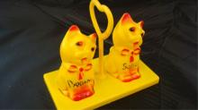 Cats on Tray Salt & Peppers Shakers