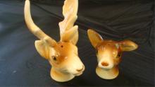 Deer Head Salt & Pepper Shakers GNCO Japan 1940s