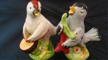 Musical Birds Salt & Pepper Shakers 1940s Japan