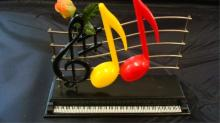Musical Notes Salt & Pepper Shakers unmarked