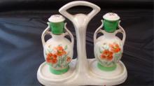 Germany 1940 Jars on Tray Salt & Pepper Shakers