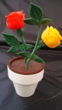 Plastic Flowers Salt & Pepper Shaker