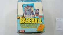 1987 FLEER Baseball Wax Pack Unopened