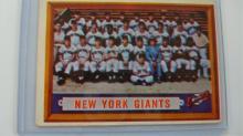 1957 NY Giants Team Card - #317