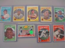 1959 (5) Hall of Famers (9) Baseball Cards