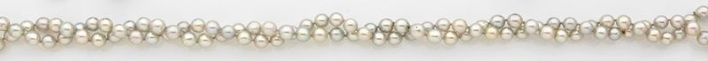 Collier de perles de culture grises