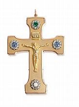 Croix pectorale pour membre du clergé, en or