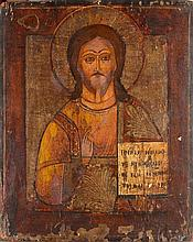 Christ Pantocrator Tempera sur bois, travail russe