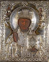 Saint Nicolas Tempera sur bois, travail russe du