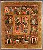 Sainte Anastasie, en treize scènes Tempera sur