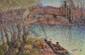 Vital PAROIS 1845 -1941 - Couple de bretons sur les bords de l'Aven