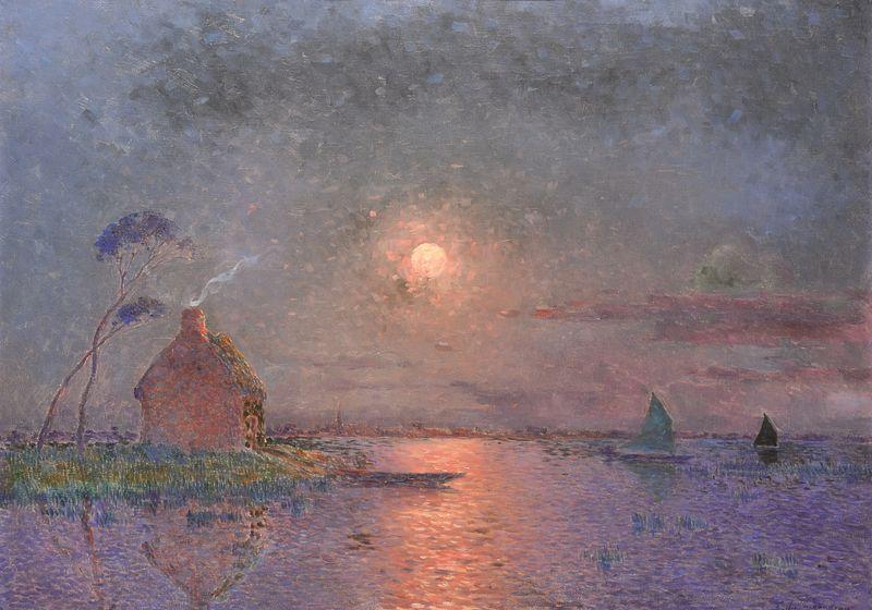 Ferdinand LOYEN DU PUIGAUDEAU 1864 -1930 - Coucher de soleil ...