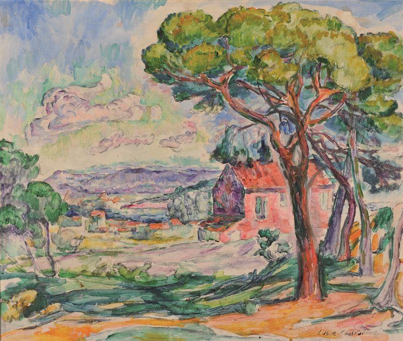 Lucie COUSTURIER 1870 -1925 - Vue des environs de St Tropez