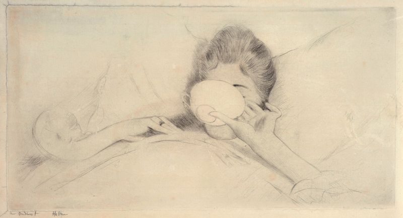 Paul-César HELLEU 1859 -1927 - La Tasse de Thé