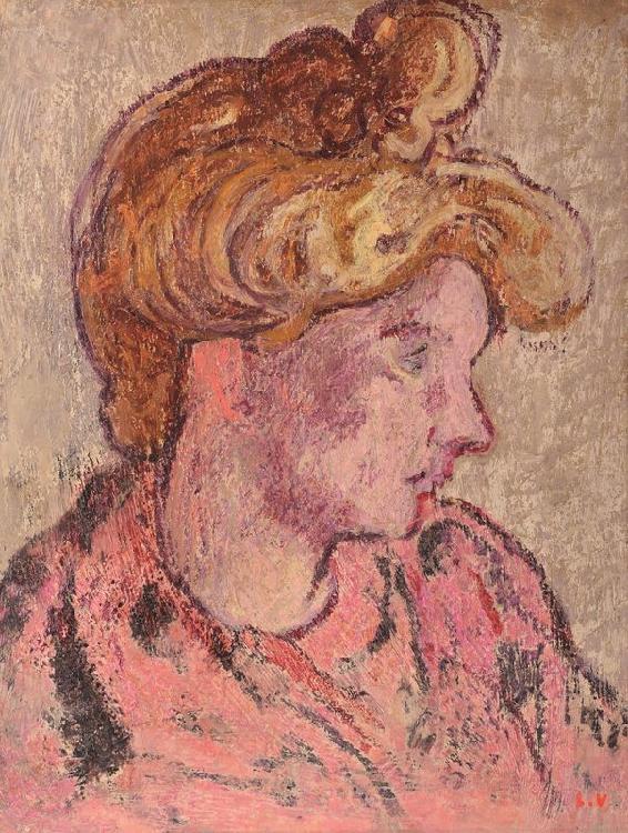 Louis VALTAT 1869 -1952 - Tête de femme, 1907