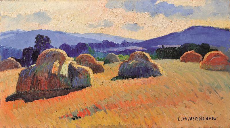 Louis Mathieu VERDILHAN 1875 -1928 - Les meules