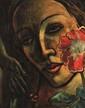 Francis PICABIA 1879 -1953 - Tête de femme à la fleur