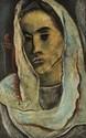 Georges ARTEMOFF 1892 -1965 - Femme au voile