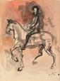 Renato GUTTUSO 1911-1987 - Le cavalier