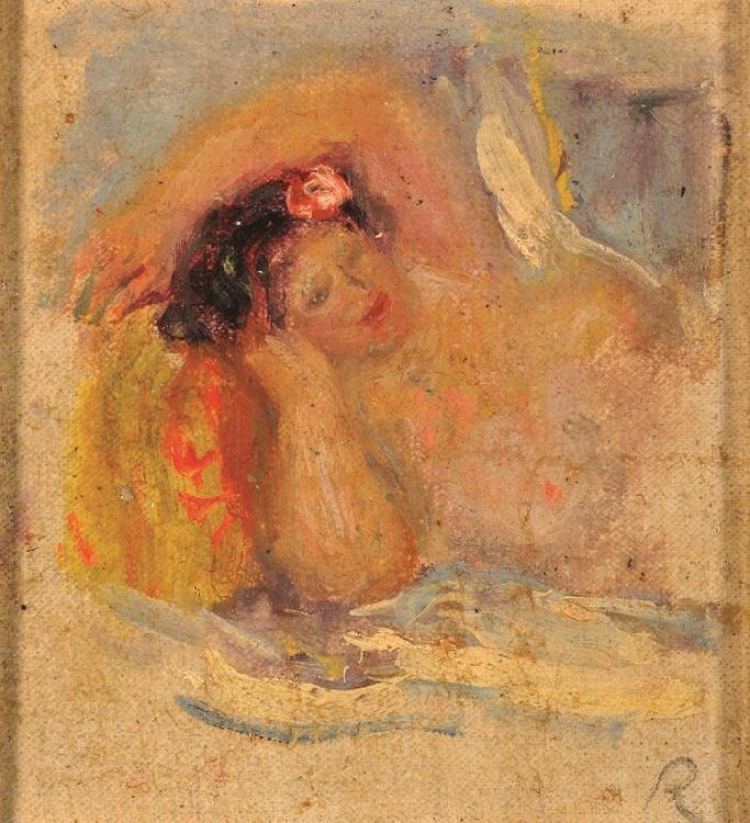 Pierre Auguste RENOIR 1841-1919 - Etude de nu allongé,...