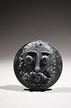 ROGER BEZOMBES (1913-1994) ET CESAR  Médaille biface en cuivre à patine noire,