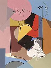 ALBERT GLEIZES (1881-1930)  Portrait de Florent Schmitt