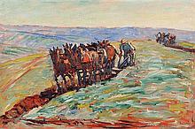 René SEYSSAUD (1867-1952) Laboureurs